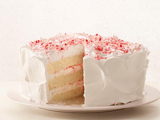 Peppermint Layer Cake With Candy Cane Frosting Recipe
