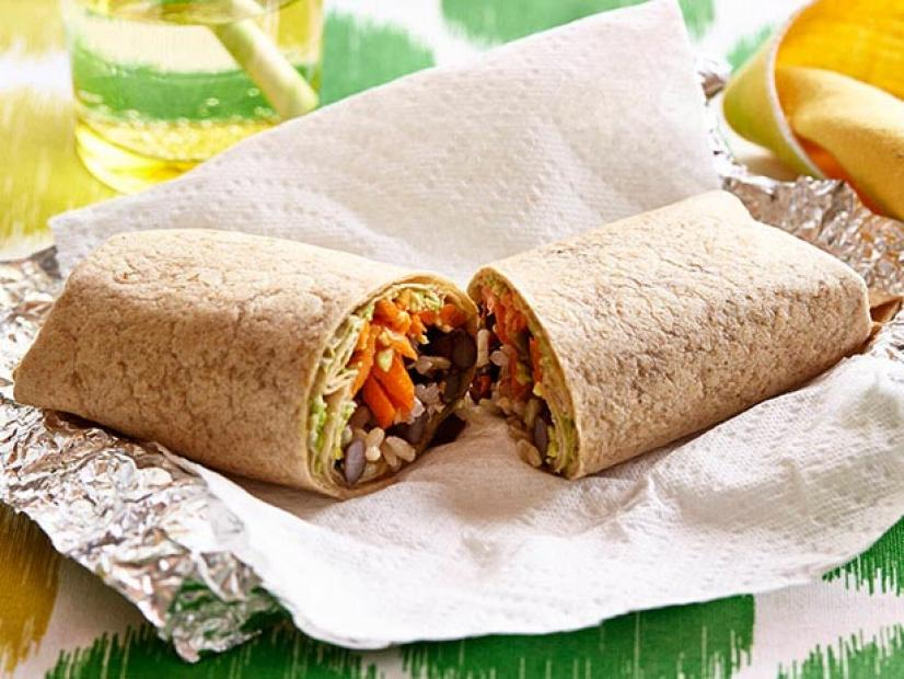 Brown Rice And Bean Burrito Recipe Food Network Kitchen Food Network