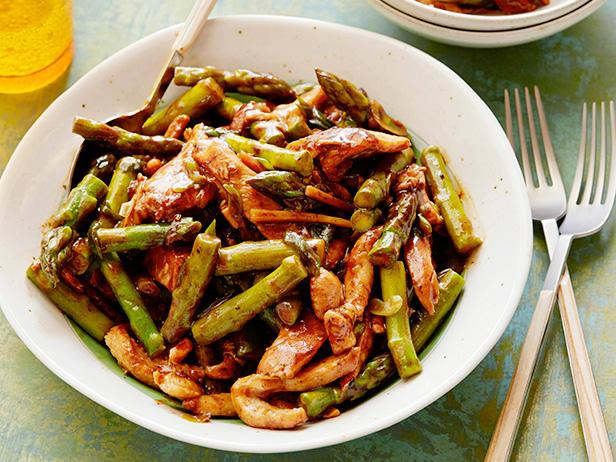 Asparagus and chicken stir fry recipe food network kitchen food save recipe print pinterest facebook twitter email asparagus and chicken stir fry forumfinder Choice Image