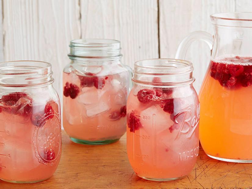 Glass Drink Palmer Pink Blue