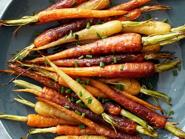 Roasted rainbow carrots recipe food network kitchen food network roasted rainbow carrots forumfinder