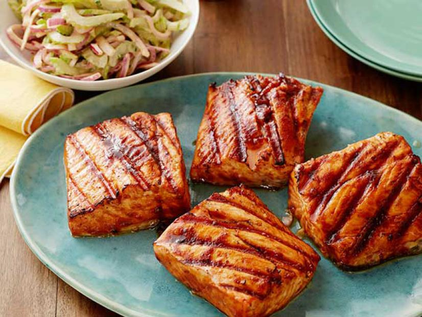 Sweet and spicy grilled salmon recipe food network kitchen food sweet and spicy grilled salmon recipe food network kitchen food network forumfinder Gallery