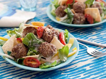 Greek Meatball Salad