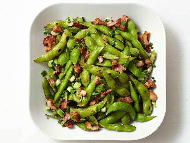 Edamame With Bacon