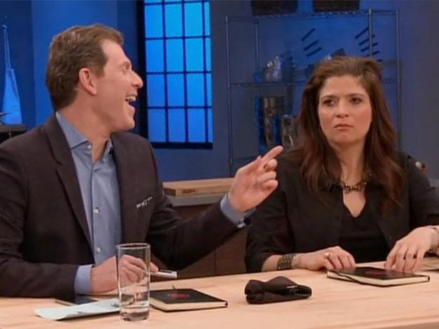 Bobby Flay and Alex Guarnaschelli
