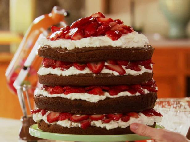 Strawberry Chocolate Layer Cake Recipe