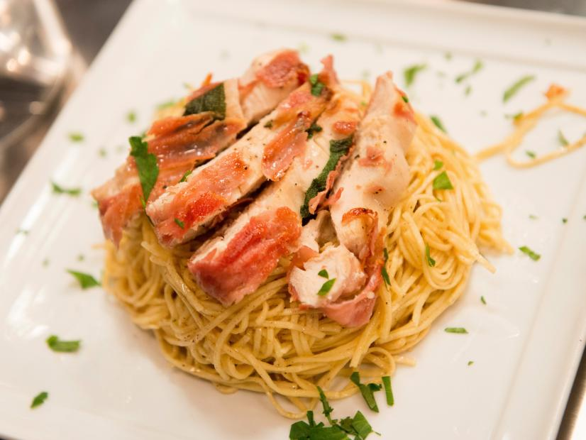 Chicken Saltimbocca With Brown Butter Angel Hair Pasta Recipe