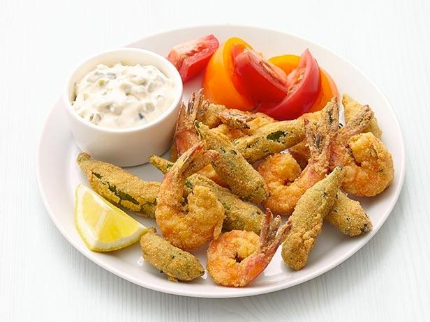 Fried Shrimp and Okra