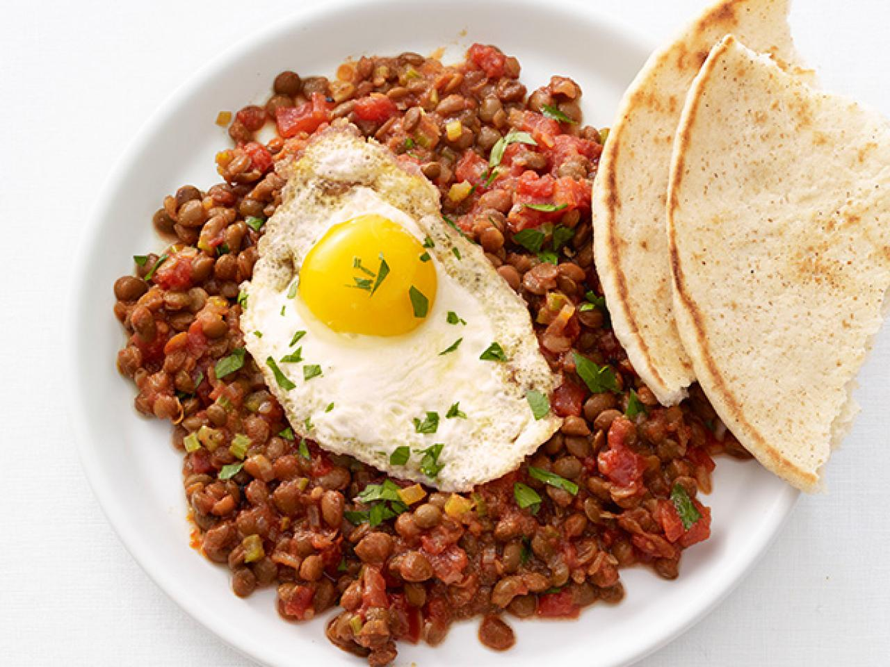 Lentils with fried eggs meatless monday fn dish behind the related to egg recipes forumfinder