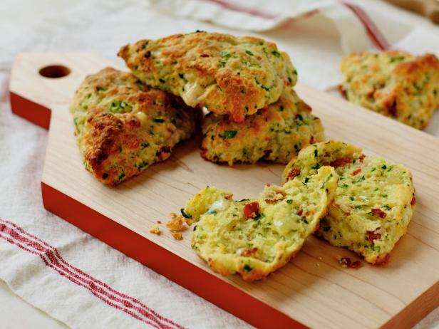 Cheddar, Tomato and Spinach Scones
