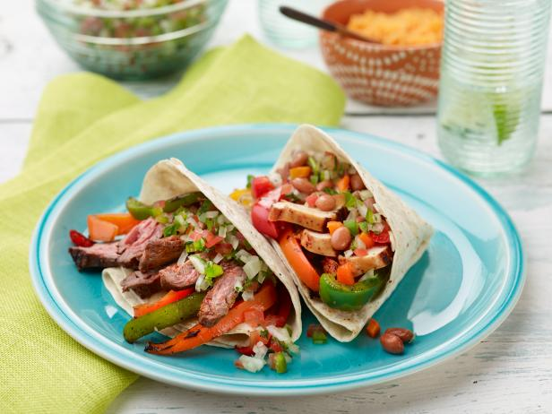 Chicken and beef fajitas recipe ree drummond food network chicken and beef fajitas forumfinder Choice Image
