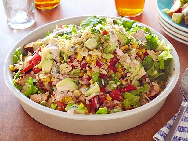 Chicken taco salad recipe ree drummond food network chicken taco salad forumfinder Choice Image