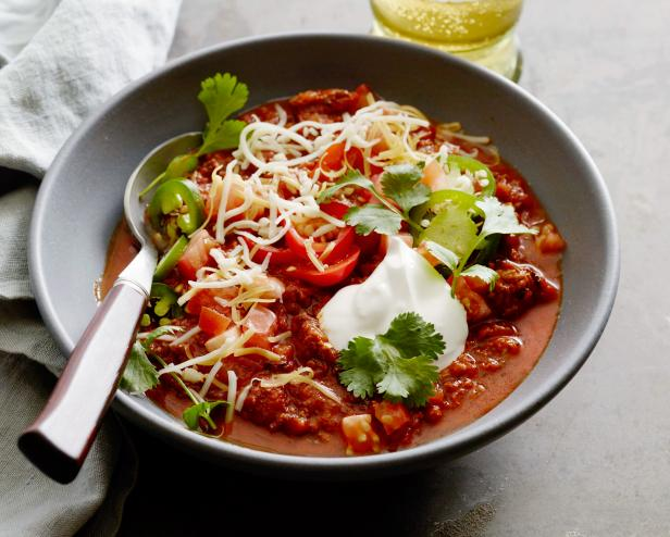 Best 5 chili recipes fn dish behind the scenes food trends and game day chili geoffrey zakarian the kitchenthe big game food network olive oil ground meat garlic onions scallions tomato paste chile powder forumfinder Image collections