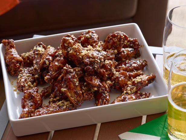 Sticky Onion Crunch Wings