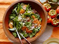Kale and Persimmon Salad with Pecan Vinaigrette