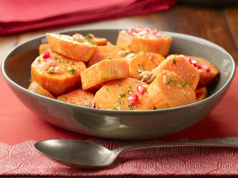 Slow-Cooker Sweet Potatoes with Walnuts and Pomegranate