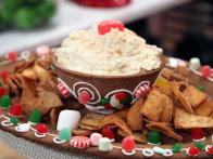 Gingerbread Platter and Bowl with Candied Walnut Mousse and Cinnamon Sugar Chips