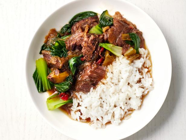 Slow cooker chinese beef and bok choy recipe food network kitchen slow cooker chinese beef and bok choy forumfinder Choice Image
