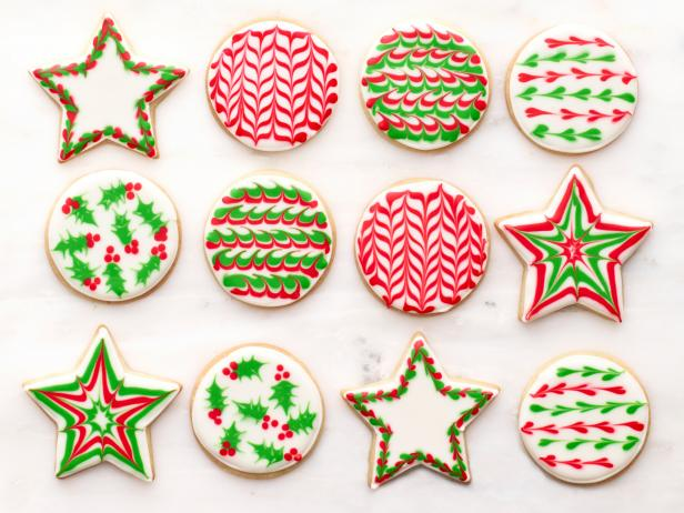 sugar cookies with royal icing recipe food network kitchen food network - How To Decorate Christmas Cookies With Royal Icing
