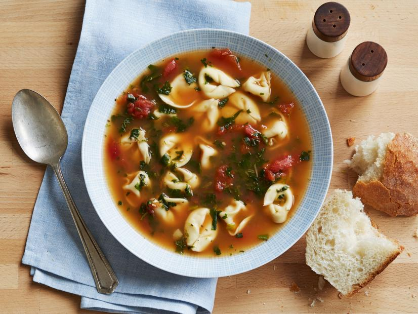 Spinach tortellini soup recipe food network kitchen food network forumfinder Image collections