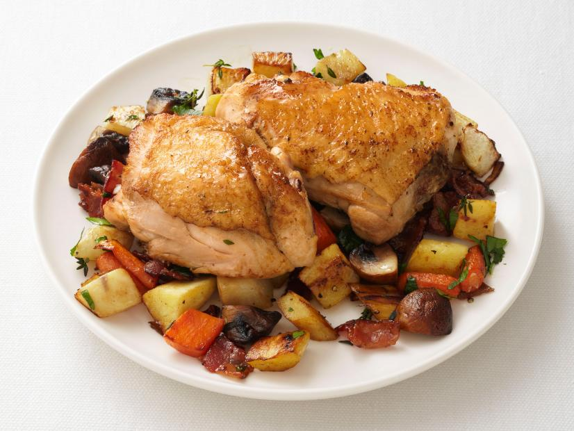 Chicken thighs with root vegetable hash recipe food network chicken thighs with root vegetable hash recipe food network kitchen food network forumfinder Images