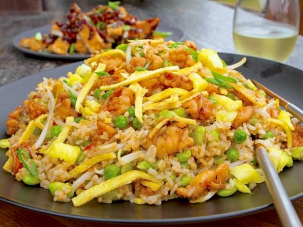 Spicy shrimp and pineapple fried rice recipe guy fieri food network spicy shrimp and pineapple fried rice forumfinder Images