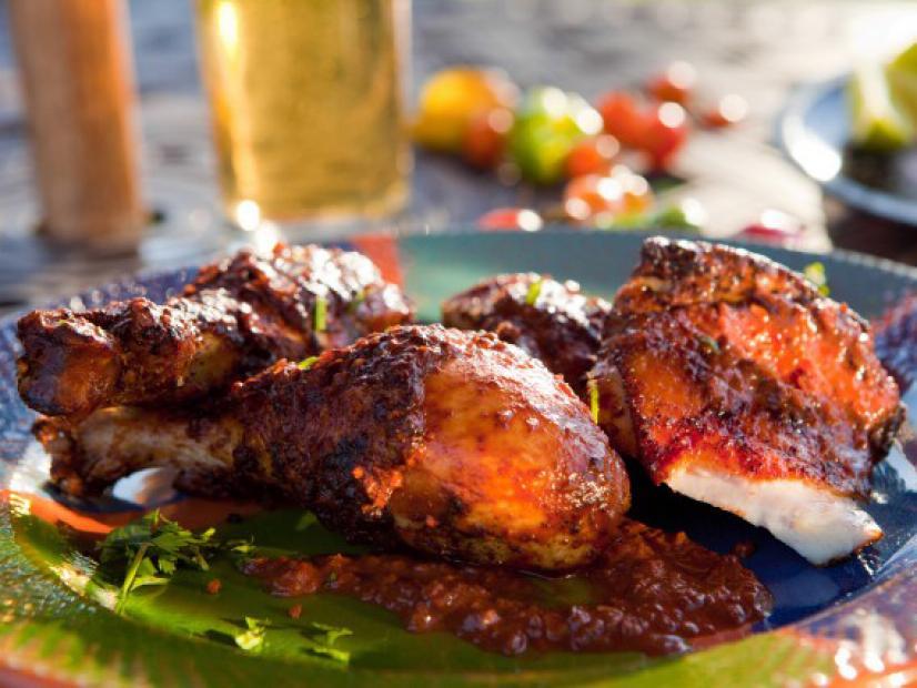 Grilled Chicken Mole Recipe Guy Fieri Food Network