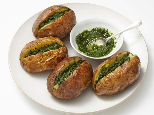 Potatoes with kale pesto recipe food network kitchen food network potatoes with kale pesto forumfinder Gallery