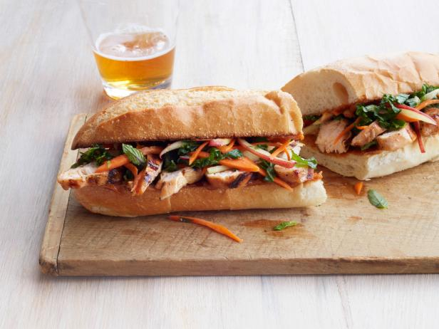 Chicken Bahn Mi with Apple-Kale Slaw