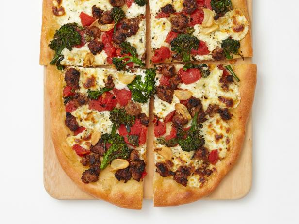 Sausage and Broccolini Pizza