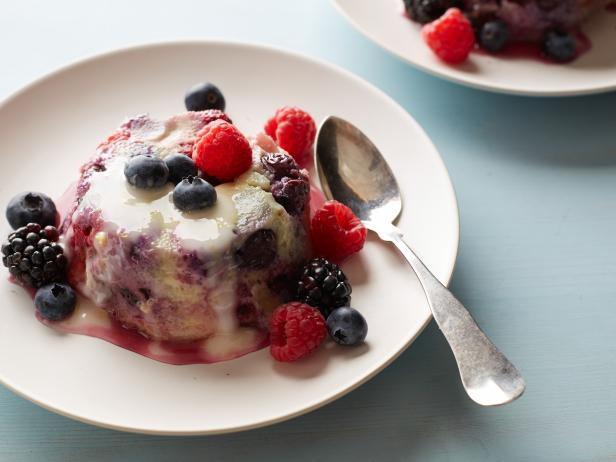 Brioche And Berry Bread Pudding With Lemon Fondant Recipe