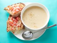 10-Minute White Bean Soup with Toasted Cheese and Tomato