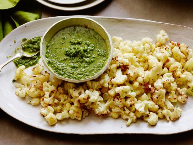 Roasted Cauliflower with Herb-Caper Sauce