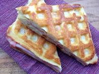 Waffle-Grilled Ham and Cheese