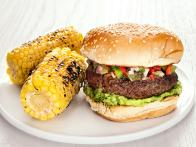 Burgers with Green Tomato Salsa