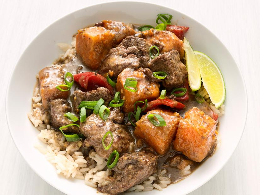Slow-Cooker Caribbean Beef Stew Recipe | Food Network ...