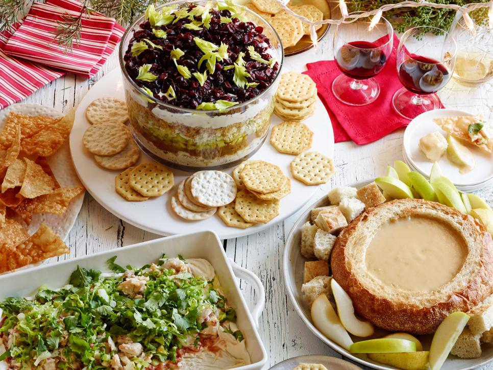 Holiday party dips food network food network greek layered dip forumfinder Image collections