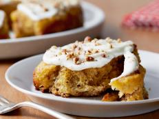 Cinnamon rolls get a fall makeover in this nutty and spiced version from Food Network.