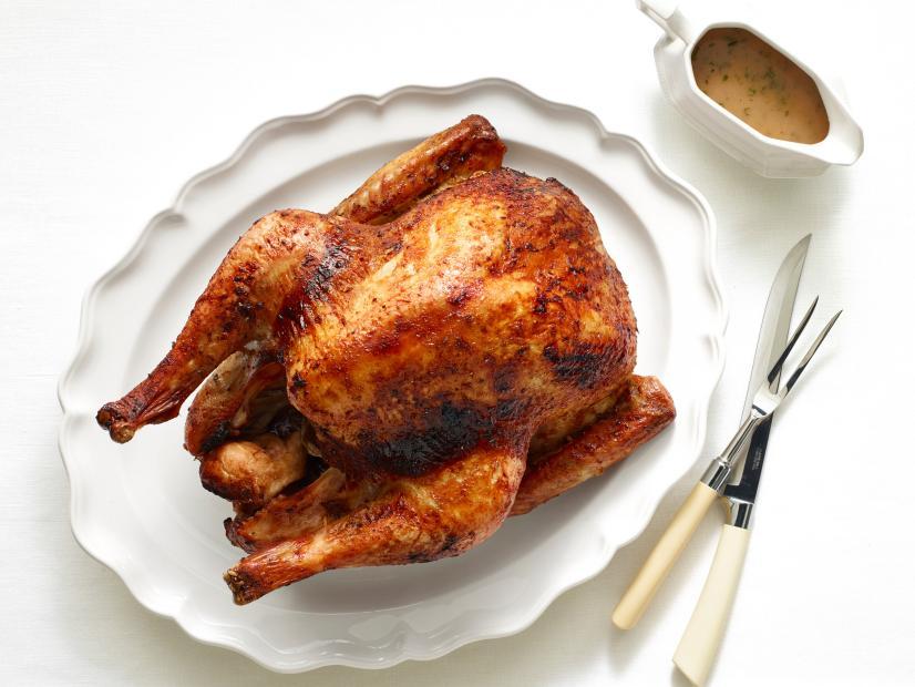 Roast Turkey With Mustard Maple Glaze Recipe Bobby Flay Food Network