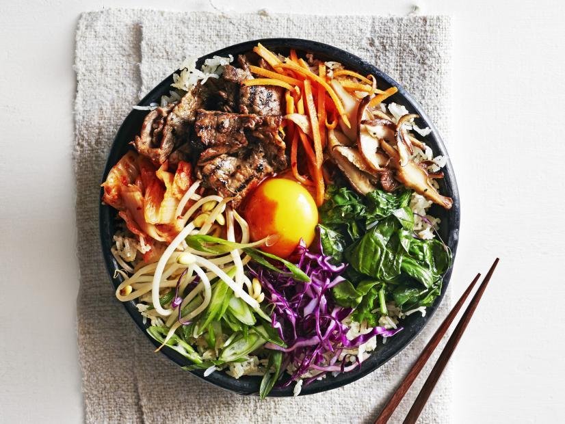 Simple Seoul Bibimbap Recipe Sunny Anderson Food Network