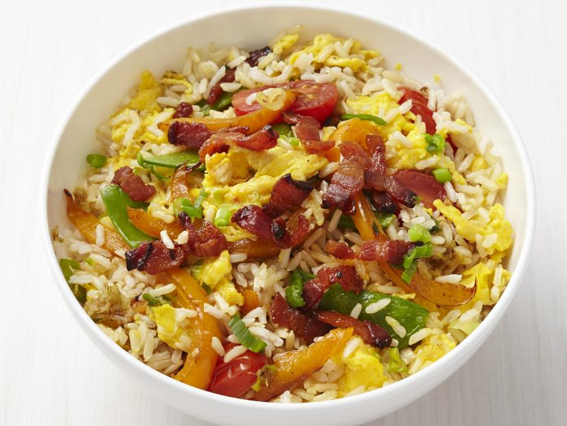 Fried rice with bacon recipe food network kitchen food network watch recipe courtesy of food network kitchen forumfinder Images