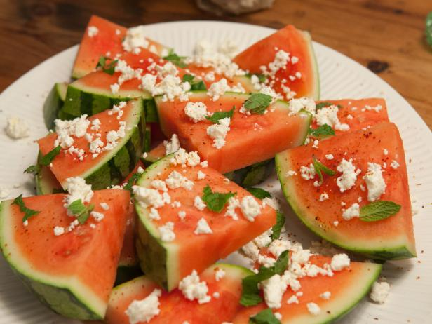 Watermelon with Feta, Mint and Chile