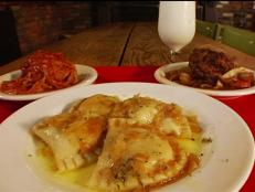 Since 1923, this family owned and operated restaurant has been serving classic Polish and Eastern European fare. Michael Symon is a fan of the cheese- and potato-filled pierogies, which are bathed in butter and onions. The lunch special comes with five pierogies, a potato, vegetables and a roll.