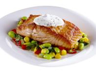 Pan-Seared Salmon with Summer Succotash