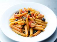 Red Pepper Penne with Cherry Tomato Puttanesca
