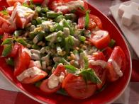 Fresh Bean and Tomato Salad with Creamy Caesar Vinaigrette