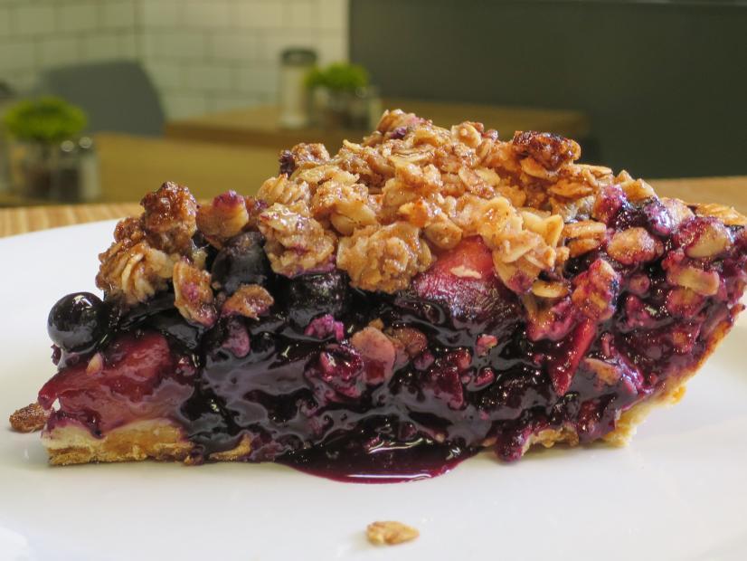 Blueberry Peach Crumb Pie Recipe Amanda Freitag Food Network