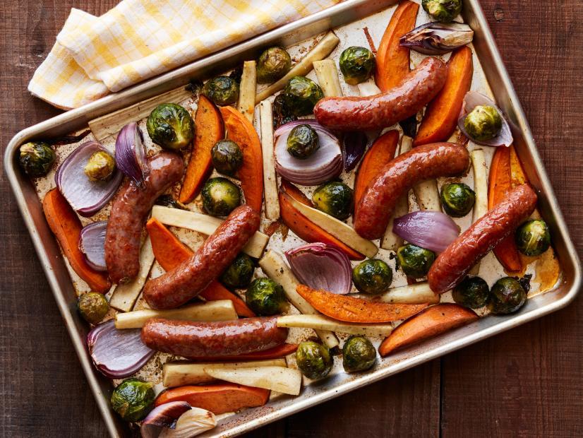 Sheetpan Sausage Supper Recipe Ree Drummond Food Network