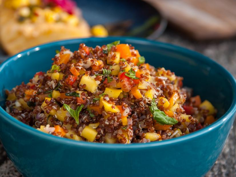 Red Quinoa And Mango Salad Recipe Guy Fieri Food Network