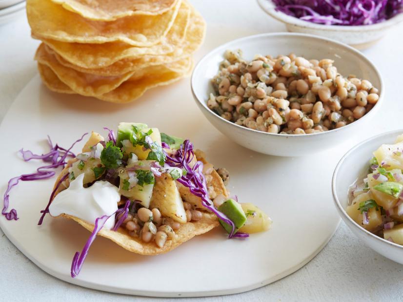 Fish And White Bean Tostadas Recipe Melissa D Arabian Food Network